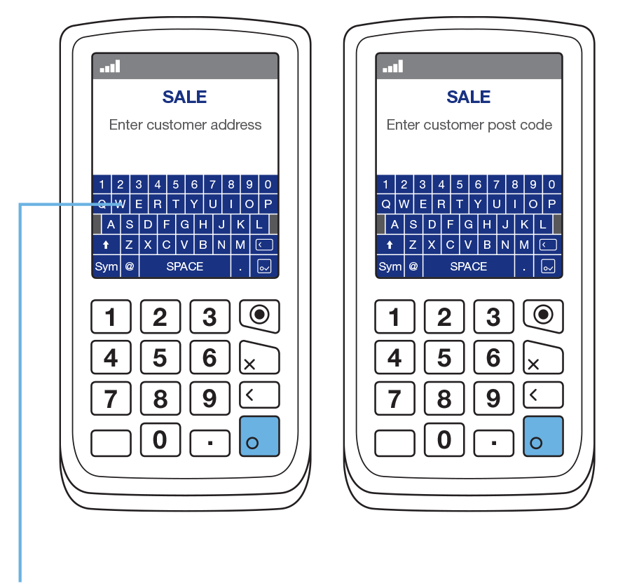 The Datecs BluePad-50 PIN Pad attaches wirelessly to all supported smartphones.